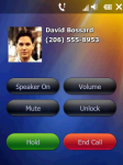 Incoming call with picture of DavidBossard