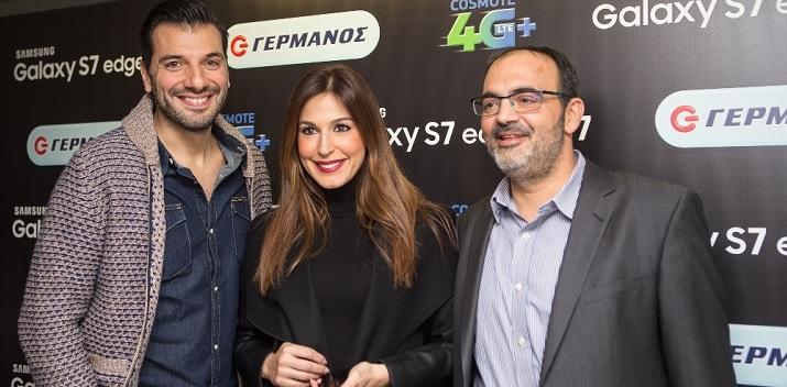 (από αριστερά) Ο Παναγιώτης Χατζηδάκης, η Κατερίνα Παπουτσάκη και ο Αλέξανδρος Ντάβος, Διευθυντής Retail Marketing Ομίλου ΟΤΕ