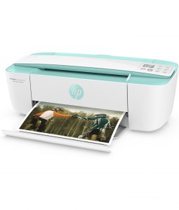 HP DeskJet Ink Advantage 3785 All-in-One, 3700 Series, Left facing, with output