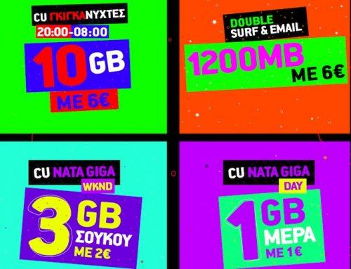 Περισσότερα Gigabyte από το CU με 3 νέα πακέτα και Dοuble Surf & Email