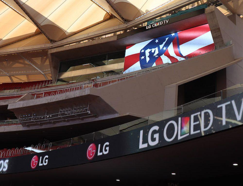 Η  LG signage στο στάδιο Wanda Metropolitano