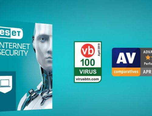 Διακρίσεις για το ESET Internet Security από τους οργανισμούς AV Comparatives και Virus Bulletin