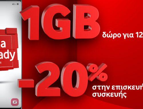 Τα καταστήματα Vodafone φέρνουν αποκλειστικά  τo νέo πακέτo προνομίων Giga Ready!