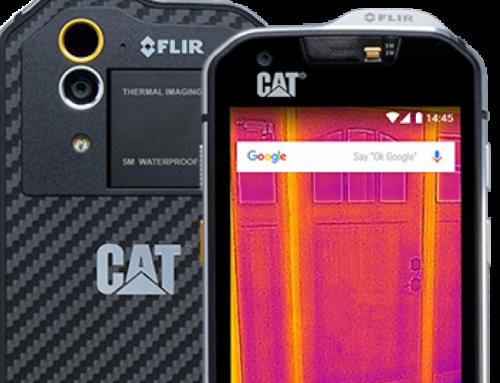 Ένα smartphone με θερμική κάμερα μπορεί να χρησιμοποιηθεί για ανίχνευση θερμοκρασίας