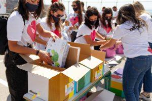 Πλαίσιο: 35.000 σχολικά προϊόντα παρέδωσε η ομάδα «πλάι σου» στους μαθητές της Βόρειας Εύβοιας